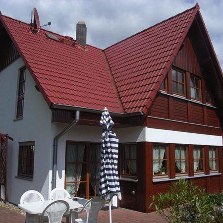 Renovierte Holzfassade