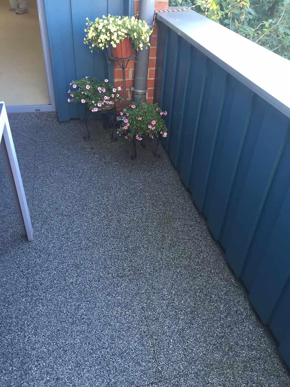 Eine sanierte Terrasse